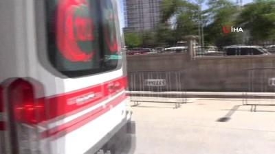 112 acil servis -  Damdan düşen bebek ağır yaralandı