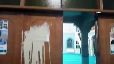 parmak -  Denizli'de camiye çirkin saldırı