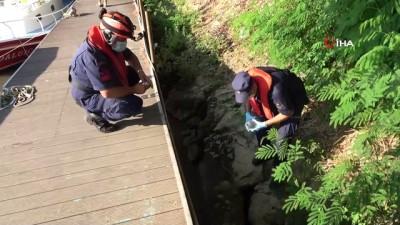 kanalizasyon -  Manavgat Irmağı'na karışan kanalizasyon Sahil Güvenlik ekiplerini harekete geçirdi
