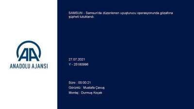 metamfetamin - SAMSUN - Uyuşturucu operasyonunda yakalanan zanlı tutuklandı