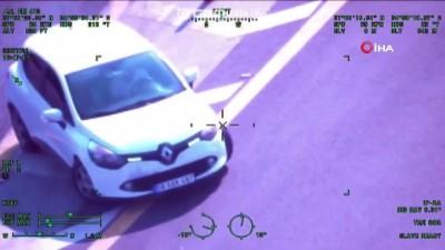 emniyet kemeri -  Trafik magandaları helikopter kamerasına yakalandı