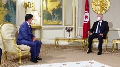 darbe girisimi - TUNUS - Fas Dışişleri Bakanı Burita, Tunus Cumhurbaşkanı Said'e 'Kral 6. Muhammed'in mesajını' iletti