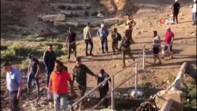 goz yasartici gaz -  - İsrail güçlerinden Filistinli protestoculara sert müdahale: 1 ölü, 158 yaralı