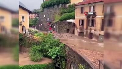 kurtarma operasyonu -  - İtalya'da sel ve toprak kayması: Cadde ve sokaklar sular altında kaldı