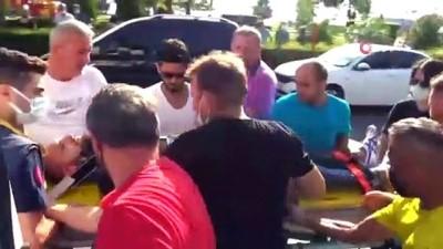 motosiklet surucusu -  Motosiklet otobüs ile çarpıştı, otobüs şoförü isyan etti Videosu