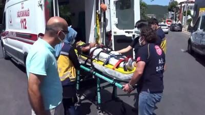 alkol -  Otomobil ile motosiklet çarpıştı: 1 yaralı Videosu