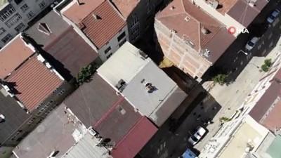 cokme -  Sultangazi'de çökme riski ile boşaltılan 2 bina böyle görüntülendi Videosu