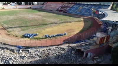 ihale - Tarihi 5 Ocak Stadyumu'nda yıkım başladı