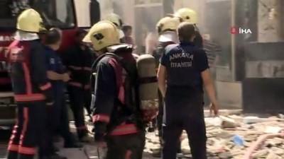Başkent'te bir binada tüp patlaması meydana geldi. Olay yerine ambulans ve itfaiye ekipleri sevk edildi