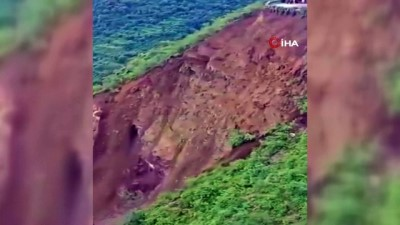 toprak kaymasi -  - Hindistan'da toprak kayması: Yol çöktü, 204 kişi mahsur kaldı Videosu