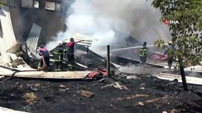 yikim calismalari -  Kullanılmayan eski fabrikada korkutan yangın