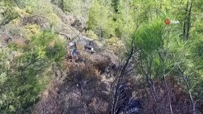 Marmaris'te yangınla ilgili vatandaşların şüphelendiği iki kişi aranıyor