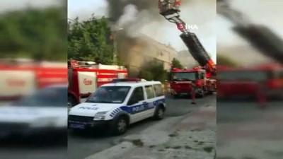 yuksek gerilim -  Ataşehir'de mobilya fabrikasında korkutan yangın
