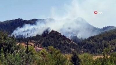 askeri personel -  - KKTC'de ormanlık alanda yangın Videosu