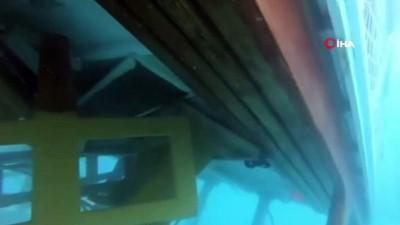 kiz kardes -  Ölüdeniz'de batan teknenin su altı görüntüleri ortaya çıktı... Teknenin kaptanı gözaltına alındı