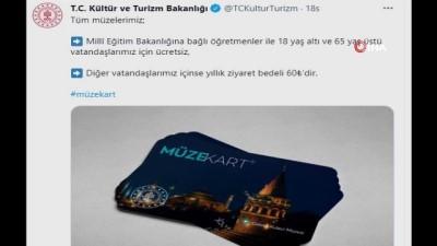 """Kültür ve Turizm Bakanlığı: """"Müze kartı ile tüm müzeler yıllık 60 lira"""""""