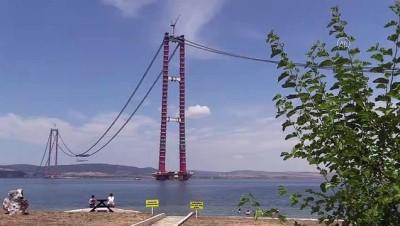 mermi - ÇANAKKALE - 1915 Çanakkale Köprüsü inşaatında askı halatlarının montajına başlandı