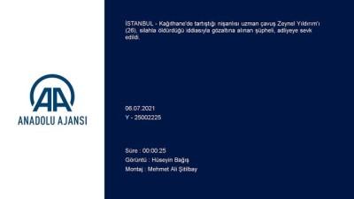 uzman cavus - İSTANBUL - Kağıthane'de tartıştığı nişanlısını öldürdüğü iddia edilen kadın adliyeye sevk edildi
