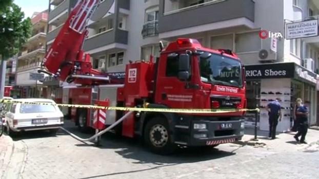 dis sagligi -  İzmir'de 6 katlı binada yangın paniği