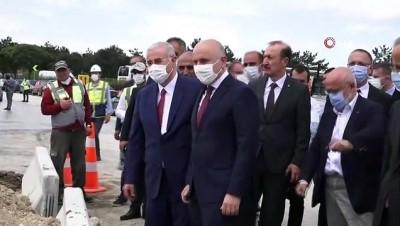 istinat duvari -  Ulaştırma ve Altyapı Bakanı Karaismailoğlu, İncek Yargıtay Kavşağı'nda devam eden çalışmaları yerinde inceledi