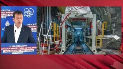 avro - İSTANBUL - Kaynarca - Pendik - Tuzla metro hattında çalışmaları hızlandıracak TBM makinesi çalışmalarına başladı