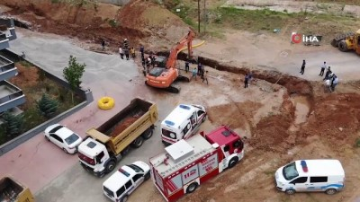 toprak kaymasi -  Kırıkkale'de göçük altında kalan işçi kurtarıldı Videosu