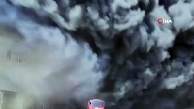 supermarket -  - Ukrayna'da depoda büyük yangın