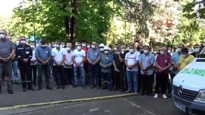 a haber -  Demir Çelik fabrikasında ölen işçi son yolculuğuna uğurlandı