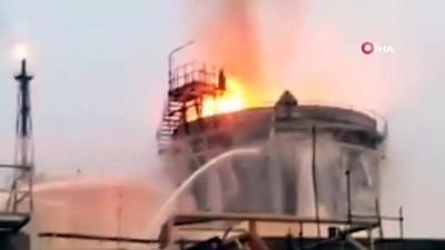 - İran'da petrokimya tesisinde yangın çıktı