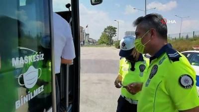 emniyet kemeri -  Bursa'da şehirler arası otobüs seferleri polis kontrolü altında