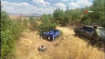 112 acil servis -  - Siirt'te traktör devrildi: 1 ağır yaralı