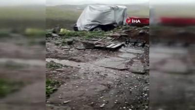 Posof'ta dolu yağışı etkili oldu