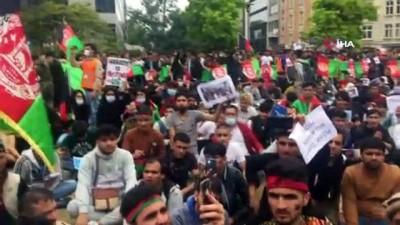misyon -  - Brüksel'deki Afganlardan Taliban karşıtı protesto Videosu