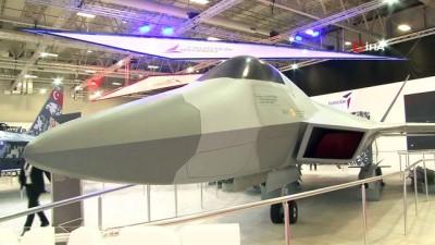 savunma sanayi -  'Milli Muharip Uçak' 15. Savunma Sanayii Fuarı'nda görücüye çıktı