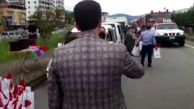 Yangın bölgesinden ülkelerine dönen Azeri İtfaiyecileri Vakfıkebir Ekmeği ile uğurladılar