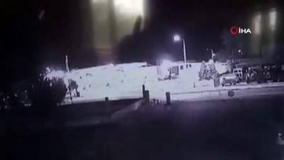 havai fisek -  Bezin istasyonuna havai fişekli saldırı güvenlik kameralarında