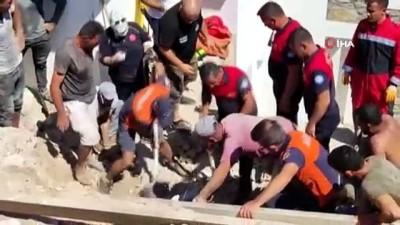 gurultu -  İnşaat işçisi çöken istinat duvarının altında kaldı