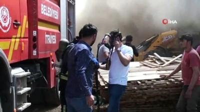 saglik ekibi -  Karaman'da kereste deposunda çıkan yangın güçlükle kontrol altına alındı