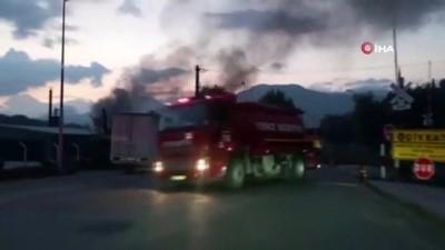 fabrika -  Kereste fabrikasında korkutan yangın