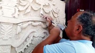 restorasyon -  Çekiç, çiviyle tonlarca ağırlığındaki taşları sanat eserine dönüştürüyor