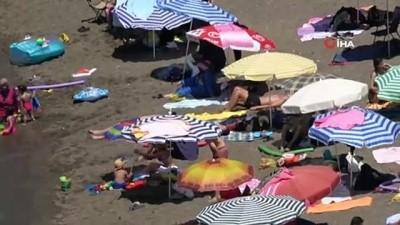 salda -  Hava sıcaklığı 28 dereceye ulaştı, vatandaş plaja akın etti