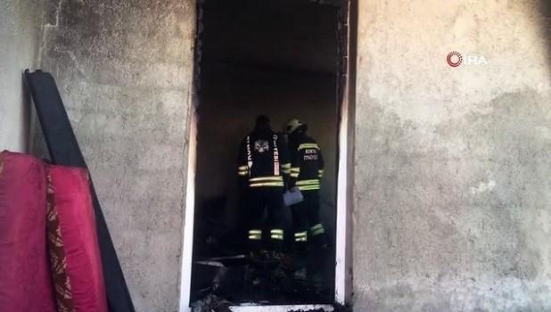 agri merkez -  Konya'da evde çıkan yangın korkuttu