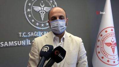 """asilama -  Samsun İl Sağlık Müdürü Oruç: """"Aşılamadan önceye göre 4 kat daha az sayıda hasta hastanede yatıyor"""""""