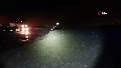 siddetli yagis -  Artvin-Yusufeli Karayolu heyelan nedeniyle ulaşıma kapandı