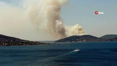 itfaiye araci -  İstanbul Valiliği: 'Yangına 3 helikopter ile müdahale ediliyor'