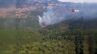 itfaiye araci -  Dursunbey'de orman yangını