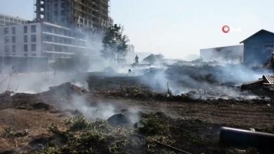 fabrika -  Demir kesen işçi fabrika bahçesini yaktı