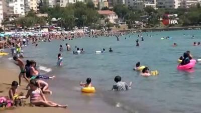 Mersin'de vatandaşlar sahillere akın etti
