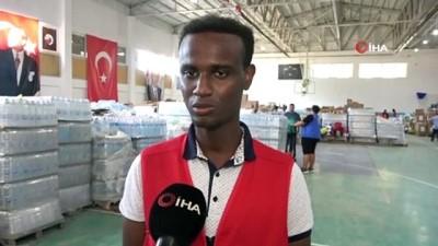 Ayancık'ta yardıma koşan bir Somalili