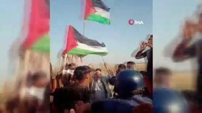 goz yasartici gaz -  - İsrail askerleri, Gazze sınırında 14 Filistinliyi yaraladı